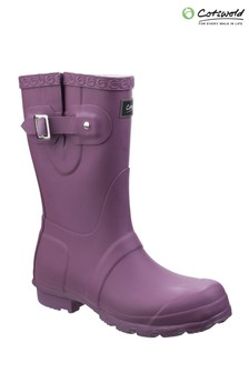 Cotswold Purple Windsor Short Wellington Boots