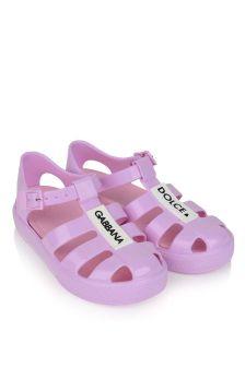 Dolce & Gabbana Kids Logo Jelly Sandals