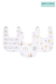 aden + anais® Essentials Winnie + Friends Snap Bibs 3 Pack