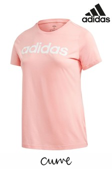 adidas Curve Pink Essentials Linear T-Shirt