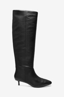 Forever Comfort® Kitten Heel Long Boots