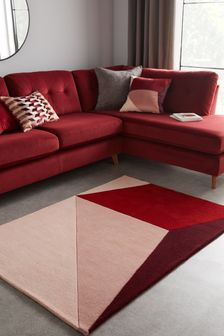 Pink Red Albez Abstract Rug