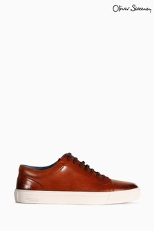 Oliver Sweeney Hayle Hand Antiqued Cupsole Trainers