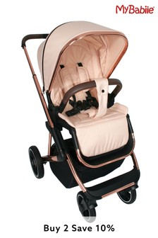 Your Babiie Belgravia Rose Gold Blush Travel System by My Babiie