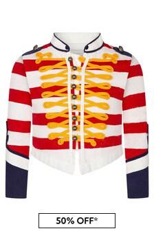 Stella McCartney Kids Boys Red Cotton Jacket