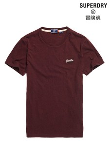 Superdry Burgundy Embroidered T-Shirt
