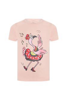 Stella McCartney Kids Girls Pink Cotton T-Shirt