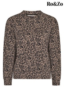 Ro&Zo Leopard Animal Sweatshirt