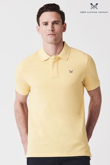 Crew Clothing Yellow Classic Pique Polo