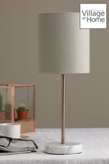 Village At Home Copper Bianco Table Lamp