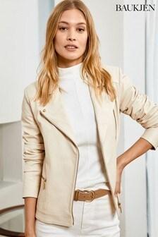 Baukjen Cream Leather Kara Jacket