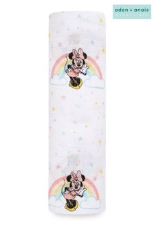 aden + anais® Essentials Muslin Swaddle Blanket - Minnie Rainbows (112 x 112cm)