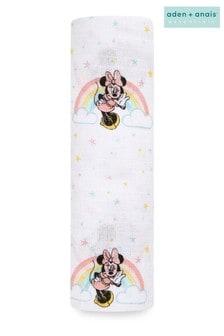 aden + anais Essentials Disney Minnie Rainbows Muslin Swaddle Blanket (112 x 112cm)