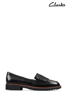 Clarks Black Leather Griffin Kilt Shoes