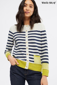 White Stuff Sketch Cotton Stripe Cardigan