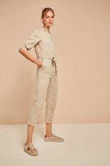 Puff Sleeve Boiler Suit