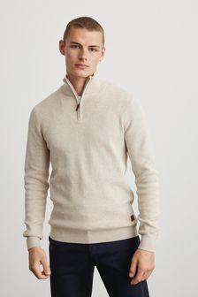 Cotton Premium Zip Neck Jumper