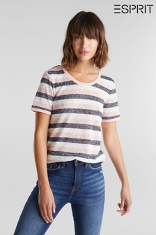 Esprit Pink Multi Striped Melange T-Shirt