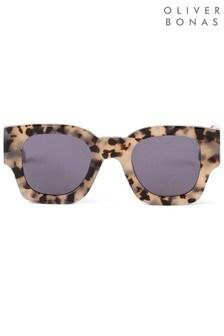 Oliver Bonas Brown Paris Double Tortoiseshell Effect Sunglasses