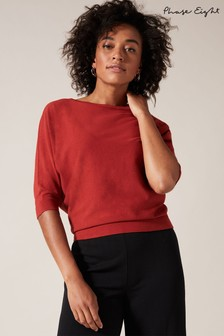 Phase Eight Spice Cristine Batwing Knitted Top