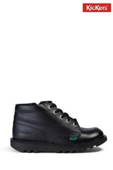Kickers Junior Kick Hi Zip Leather Shoes