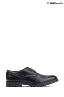 Base London® Black Barrage Lace-Up Derby Shoes