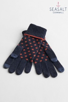 Seasalt Navy Very Clever Gloves