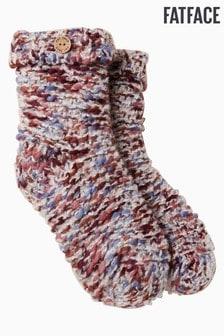 FatFace Natural Multi Knit Bed Socks