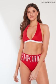 Emporio Armani Triangle And High Brief Bikini