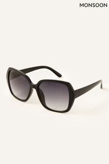 Monsoon Black Wilda Oversized Sunglasses