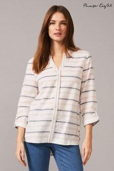 Phase Eight Blue Breda Stripe Shirt