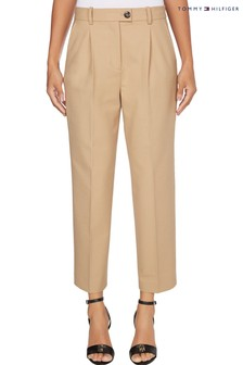 Tommy Hilfiger Camel Icon Wool Tapered Trousers