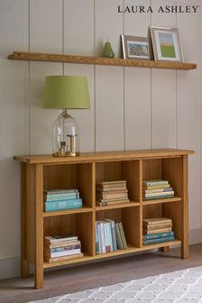 Milton Oak Low Bookcase by Laura Ashley