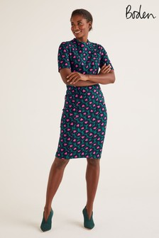 Boden Green Louise Textured Dress