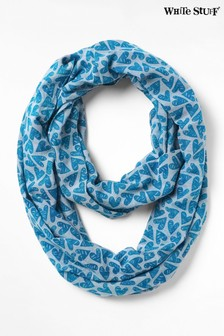 White Stuff Blue Cotton Heart Snood