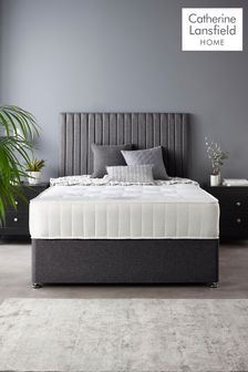 Catherine Lansfield Soho Divan Set With Ortho Pocket Mattress Charcoal