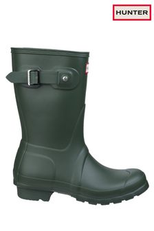 Hunter Green Original Short Wellington Boots