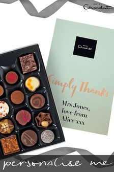 Personalised Simply Thanks Everything H Box by Hotel Chocolat