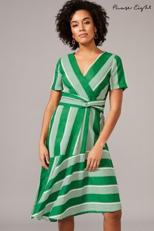 Phase Eight Green Betka Stripe Dress