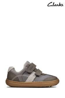 Clarks Grey Flash Metra T Shoes