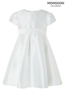 Monsoon Cream Baby Henrietta Dress