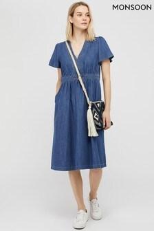 Monsoon Blue Maisie Denim Dress