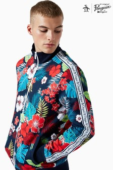 Original Penguin® Blue Floral Print Track Jacket