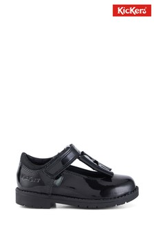 Kickers Infants Lachly Bow Patent Leather Shoes