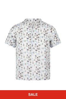 Bonpoint Boys Blue Cotton Shirt