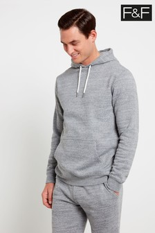F&F Grey Textured Oh Hoody Sweater