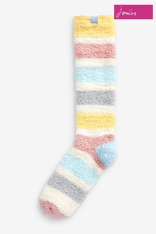 Joules Cream Fabulously Super Soft Fluffy Socks