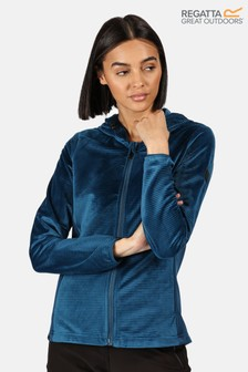 Regatta Blue Siddington Full Zip Hooded Fleece Jacket