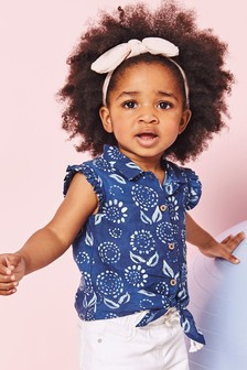 Tie Front Printed Blouse (3mths-7yrs)