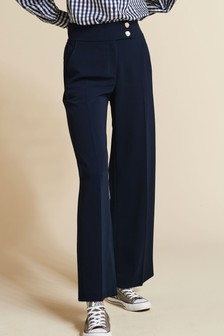 Wide Leg Gold Button Trousers